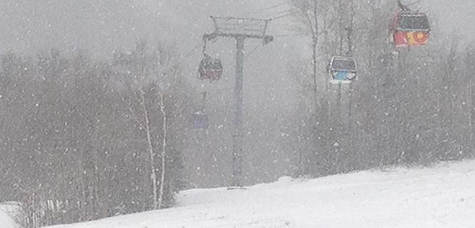 Killington Gondola Snow Storm